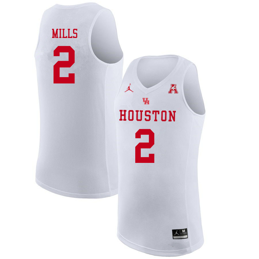 Jordan Brand Youth #2 Caleb Mills Houston Cougars College Basketball Jerseys Sale-White